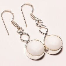 Girls & Womens Jewelry ! Mother Of Pearl Silver Plated Handmade Earring 1.75""