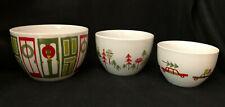 Crate & Barrel Julia Rothman Christmas Nesting Bowls Set Of 3