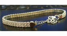 3.6Ct Diamond Tennis Bracelet 7 Inches 2 Row Round Cut 14K White Gold Finish A