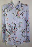 Ladies New Ex George Blue Print blouse size 8 10 12 14 16 18
