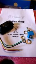 10 / 11 Meter Receive Preamplifer With Switch -30dB +25 dB Gain 24-32 Mhz New