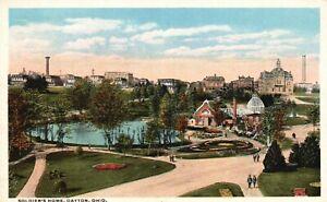 Dayton, Ohio, OH, Soldiers' Home, White Border Vintage Postcard a2919