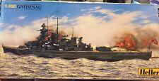 Heller Wwii German Battleship Gneisenau 1/400 model kit Parts Sealed 81080