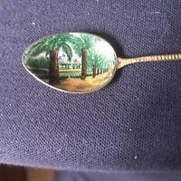 Vintage Souvenir Spoon Enameled Pic of La Spezia Liguria Region of Italy.
