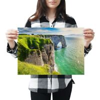 A3 - Aval Cliff Etretat Normandy France Poster 42X29.7cm280gsm #12376