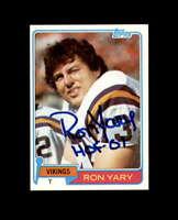 Ron Yary Hand Signed 1981 Topps Minnesota Vikings Autograph
