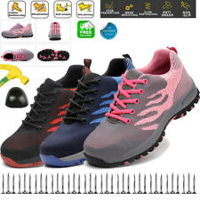 Womens Mesh Sneakers Steel Toe Safety Shoes Work Boots Indestructible Pink US 11