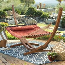 Quilted Double Hammock 2 Person Outdoor Hanging Patio Porch Deck Tree Yard NEW
