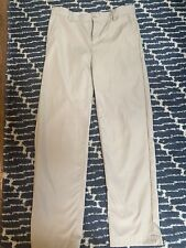 Lands' End School Uniform Size 14 Boys Youth Khaki Pants Euc