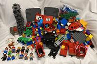 Huge 17 Pounds Lbs Lot Lego Duplo Blocks Train Fire Peter Pan Figures Animals