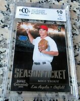 MIKE TROUT 2011 RATED Rookie Card RC BGS BCCG 10 Los Angeles Angels ROY AS MVP