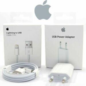 Original Apple iPhone 7 8 X XS XR Ladegerät 5w Adapter 1m 2m Lightning Ladekabel