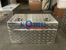 Aluminium Top Open Toolbox 900x500x500mm Rectangular Ute TRUCK TRAILER Tool Box