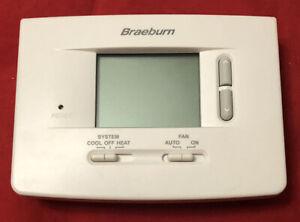 Braeburn 1020 Thermostat - Non-Programmable Single Stage Heat / Cool Backlight