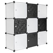 Scaffale armadietto modulare mobile scaffalatura mensola armadio cuba diy bianco
