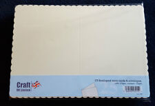 C5 Ivory Scalloped Card Blanks & Envelopes 10 per pack