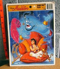 ALADDIN frame puzzle Abu & Genie of Lamp kids 1992 beat-up Disney #8200