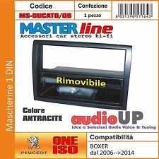 MASCHERINA AUTORADIO 1 DIN PER PEUGEOT BOXER DAL 2006 AL 2014 ADATTATORE UN DIN