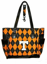 NEW r25 Tennessee Volunteers NCAA TOTE Argyle Hand Bag Purse college team logo