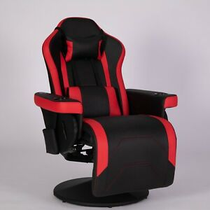 Gaming Chair Swivel High Back Racing Ergonomic Leather Office Red Model New