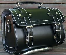 Small Leather Top Case Front Rack Roll Bag Vespa Primavera LX 946 GTS GTV, Black