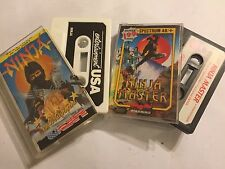 2 x ZX SPECTRUM TAPE GAMES 48K 128K +2 NINJA MASTER By FIREBIRD & NINJA By USA