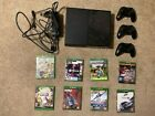 Xbox One (Black) Bundle 500 GB along with 3 Controllers and 8 Games!!