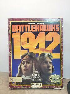 Battlehawks 1942 WWII Combat IBM Lucasfilm Games Box Issues