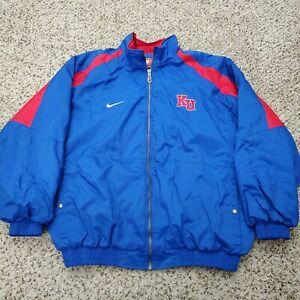 Vintage 90s Kansas Jayhawks KU Nike Team Sports Mens Jacket Football Coat Sz XL
