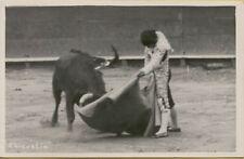 VTG Bull Fighter Matador Chicuelin Chicuelo Manuel Jimenez RPPC Photo Postcard
