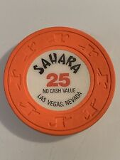 SAHARA $25 NCV Casino Chip LAS VEGAS Nevada 3.99 Shipping