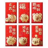 36 Pcs Chinese Pig Money Envelope Hong Bao Red Packet
