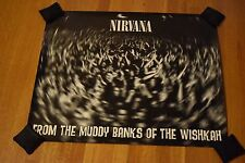 RARE Nirvana 2-Sided Banks of the Wishkah Record Store Promo Art Poster 24 x 29