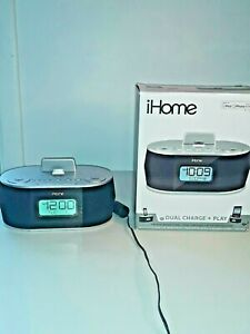 * WORKING iHome IDN38 Apple Docking Station Speaker Clock Radio iPhone iPad iPod