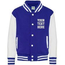 Personalised Varsity Jacket XS-2XL Customised Printed Baseball College Adults