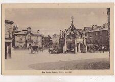 The Market Square Kirkby Lonsdale Cumbria England Vintage Postcard US059