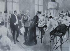 1903 Large Antique Print- Queen Alexandra - Finsen Light Room, London Hospital