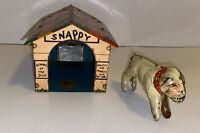 Vintage 1930's Marx Snappy Dog & Dog House Tin Litho Toy