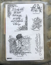 Stampin' Up SEE WITH THE HEART Rubber Stamp Kit