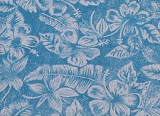 Blue Floral Printed Polyester Fabric