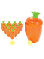 Carrot Easter Bowling Party Game Rabbit Decoration Toy