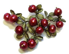 CRANBERRY PEARL PIN/BROOCH PIN BY MICHAEL MICHAUD FOR SILVER SEASONS- 5669BZCR