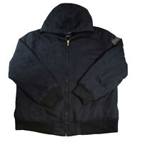 Vintage NAUTICA Hooded Navy Blue Padded Jacket Fleece Lined Size Mens XL X Large