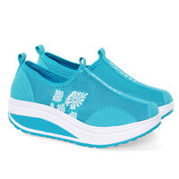 Lady Platform Shape Ups Fitness Walking Sport Running Lace Up Sneaker Shoes New