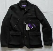 Ralph Lauren Purple Label Whitby SCUBA JERSEY SPORT COAT BLACK TAGLIA L