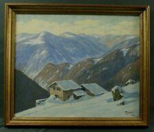Tableau 1950 par Martin Jedelé Hautes-Vosges sous la neige
