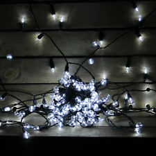70 LARGE WHITE BERRY GARDEN DECKING LIGHTS OUTDOOR PATIO DECORATIONS BERRY70W