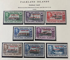FALKLAND ISLANDS 2L1 - 2L8 2cnd Printing 1L13 Beautiful Mint NEVER Hinged Set AG