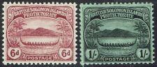 BRITISH SOLOMON ISLANDS 1908 SMALL CANOE 6D AND 1/-