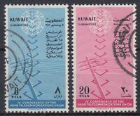 Kuwait 1962 fine used Mi.163/64 Telekommunikation Telecommunications [gb028]